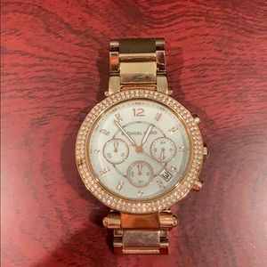 Michael Kors Parker Rose-Gold Tone Watch